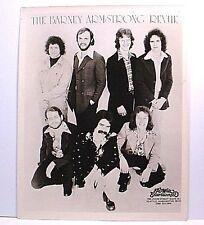 "BARNEY ARMSTRONG REVUE - Original 8""x10"" Glossy B+W Agency Promo Photo A - 1974"