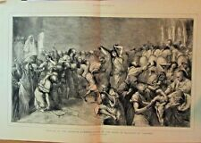 Aissawah, Festival Of The Birth Of Mahomet At Tangiers, 1874 Antique Art Print