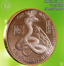 Year of the Snake 1 oz .999 Copper Round