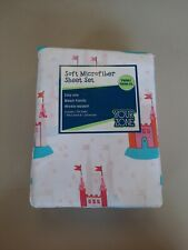 Princess Castle � Bedding Sheet Set Twin 3 Pc Your Zone Wrinkle Resistant New