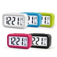 Bedside Digital LED Snooze Alarm Clock Large Display LCD Electronic Night Glow