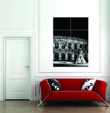 Estatua torero Arena Nimes Francia Negro Blanco Poster Gigante Art Print