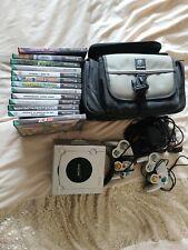 Nintendo GameCube Platin Konsole mit zwei Pads Tasche 14 Spiele