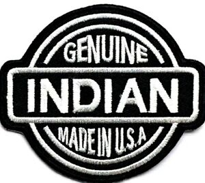 GENUINE INDIAN MADE IN USA NATIVE MOTORCYCLE BIKER VEST PATCH Q-5