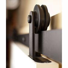 6FT Single Sliding Barn Door Hardware Track Kit Closet Interior Roller Wardrobe