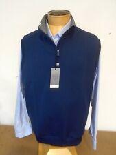 Bobby Jones Rule 18 Performance Fabric Quarter Zip Vest NWT  Large $135 Navy