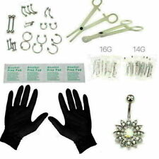 41 Pcs Jewelry Body Piercing Tool Kit Belly Tongue Eyebrow Nipple Needles Kit