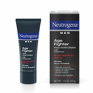 Neutrogena Age Fighter Anti-Wrinkle Retinol Moisturizer for Men, Daily...