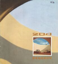 Peugeot 204 Berline Break • 1974 • Brochure Prospekt • English • VERY GOOD