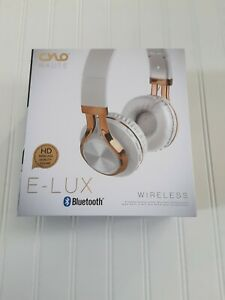 Cylo Haute E-Lux Wireless Bluetooth Headset White Gold New, Sealed