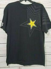 Fox Racing RockStar Energy Drink Black T Shirt Short Sleeve Men's Size Large