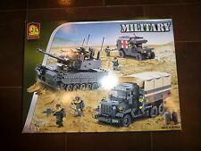 [OXFORD] OM33011 MILITARY Tank Truck Jeep Building Block 925 Piece Set