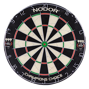 Nodor Champion's Choice Practice Sef-Adhesive Bristle Dartboard - Used by Pro to