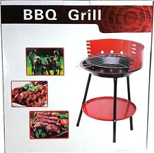 Charcoal Bbq Grill Barbecue Table Top Red Black Portable