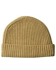 New 100% Cashmere Knit Watch Ski Hat Cap Beige Tan Brown One Size $125