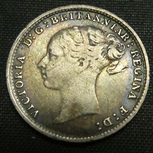 1880 Great Britain 3 Pence Silver Coin VICTORIA KM# 730