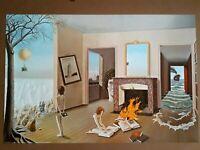 Entre Les Trous De La Memoire Art by Dominique Appia Original 1975 Poster
