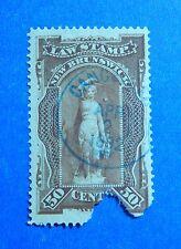 1887 50c CANADA NEW BRUNSWICK LAW REVENUE VD # NBL7 B # 7 USED           CS32619