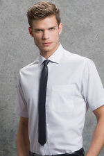 Kustom Kit Mens Formal Wear Top Short Sleeved Premium Non Iron Corporate Shirt