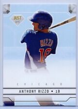 """ANTHONY RIZZO 2011 """"JUST MINORS"""" ROOKIE CARD #JD8! CHICAGO CUBS"""