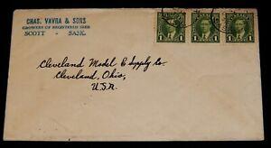 Vintage Cover,CANADA POSTAL HISTORY,1938, KING GEORGE VI, Postmarked Scott, SK