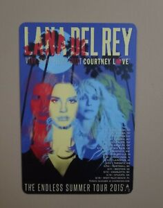 Lana Del Rey Metal Plaque Tin Hanging Wall Sign NEW The Endless Summer Tour 2015