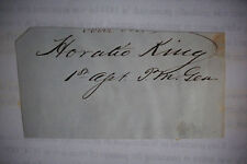 Signature Postmaster General HORATIO KING Last Survivor of Abe Lincoln Cabinet