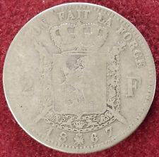 Belgium 2 Francs 1867 (D2208)