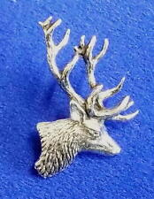 'Stags Head' English pewter pin badge.