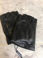 Nappaglo Fingerless Black Gloves Small Moto Riding