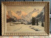 ERWIN KETTEMANN (1897-1971)- Listed Artist- Huge Winterscape (1 of 2)- Signed