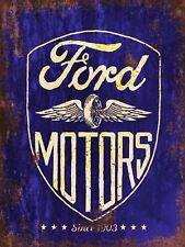 Ford Motors Vintage Retro style Metal Sign garage Advertisement wall Plaque a4