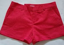 Calvin Klein Fuchsia Pink Women's Shorts Loops Mid Rise Logo Buttons NWT Size 14