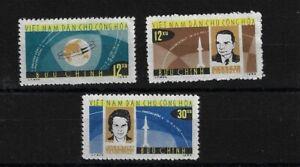 NORTH VIETNAM SGN299/301, 1964 SPACE FLIGHTS MNH