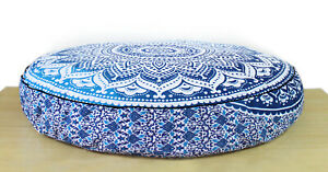 """Traditional 35"""" Large Round Floor New Cushion Pillow Cover Pouf Meditation Cover"""