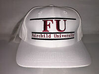 Vtg Fairchild University FU Snapback hat cap rare 90s NCAA College NWT deadstock