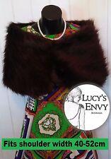 Australian Made Brown Faux Fur Wrap Shawl by Lucy's Envy W109-15