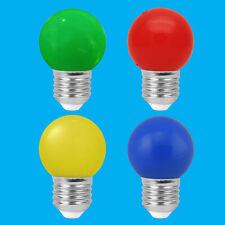 6x 3W LED Coloured ES E27 Golf Ball Light Bulb Lamp Red Yellow Green Blue