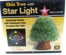 Chia Pet Tree Planter with Glowing Star Light Complete With All Parts and Seeds