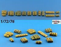 1:72 cargo military stowage tents rolls - resin modelling kit  /c6