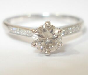 Platinum 0.60pt Diamond Engagement Ring with a £2,500.00 Valuation