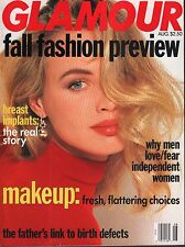 Glamour August 1991  Makeup, Breast Implants   072717nonDBE3