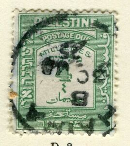 PALESTINE; 1924 early Postage due issue fine used 4m. value
