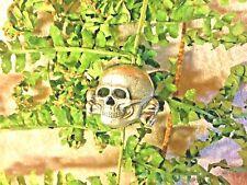 Grand pin's tête de mort  totenkopf  argenté