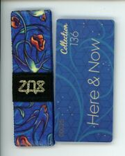 ZOX GOLD Strap HERE & NOW Wristband with Card Reversible