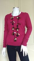 WHITE STUFF Rosy Rosey Jumper Top Sweater Pink Wool Cotton RRP £49.95 UK 8 - 18