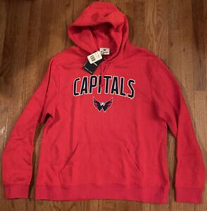 Washington Capitals NHL Fanatics Pro Line Iconic Engage Arch Hoodie NWT XL