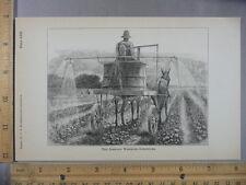 Rare Antique Orig VTG Johnson Wheeled Sprinkler Horse Farm Illustration Print