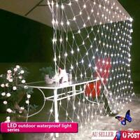 3x2M Waterproof LED String Fairy Lights Net Mesh Christmas Wedding Party Outdoor