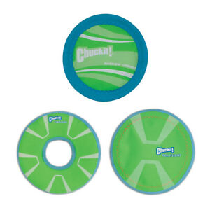 New Chuckit!-Max Glow Flight Flydisc Dog Puppy Toys Play in Dawn&Night Outdoor